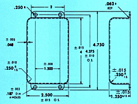 Dimensional Drawing for Specials - Rectangular Can with a Flange & Cover