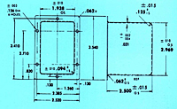 Dimensional Drawing for Specials - Rectangular Can with a Flange