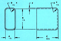 Dimensional Drawing for Relay Cases (TC-44-9)